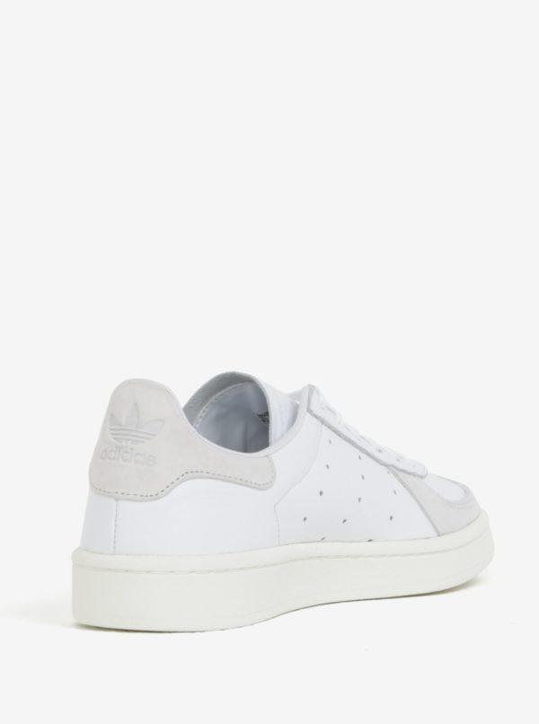 Biele pánske kožené tenisky adidas Originals Avenue