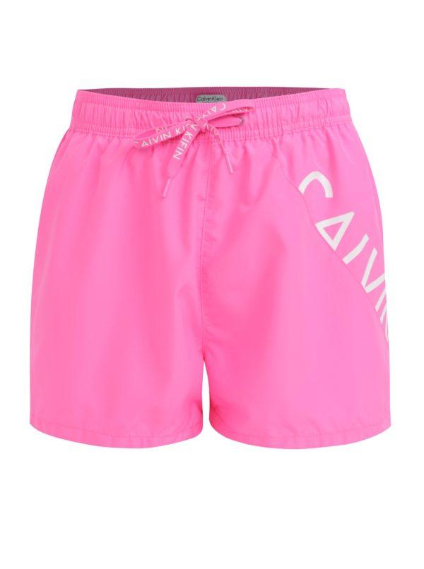 Ružové pánske plavky Calvin kKein