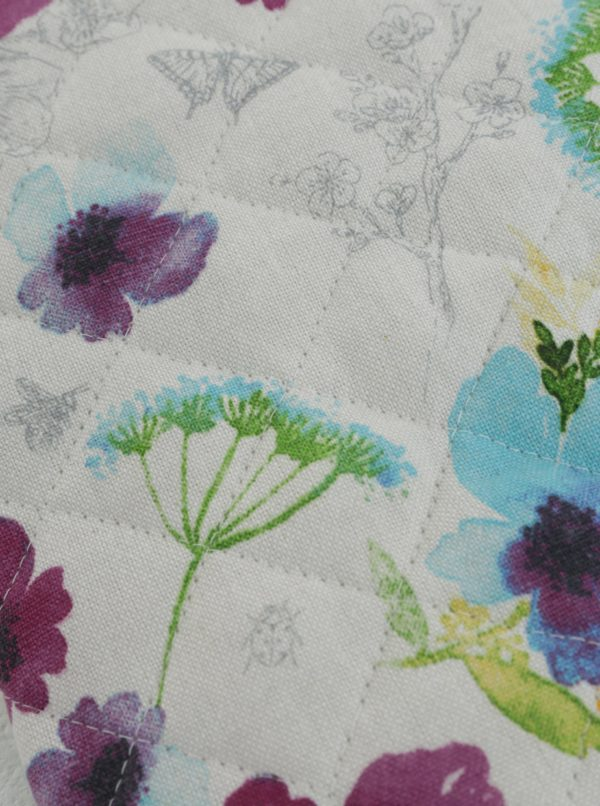 Bielo-fialová chňapka s kvetovaným motívom Cooksmart