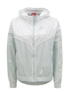 Bielo–mentolová dámska tenká bunda na zips Nike 45976b82349