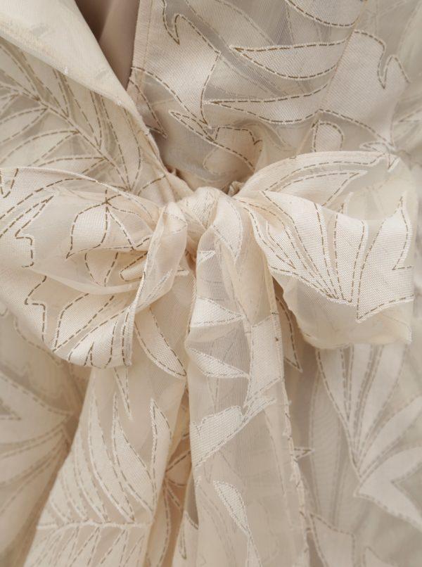 Béžové zavinovacie vzorované šaty Alexandra Ghiorghie Trench