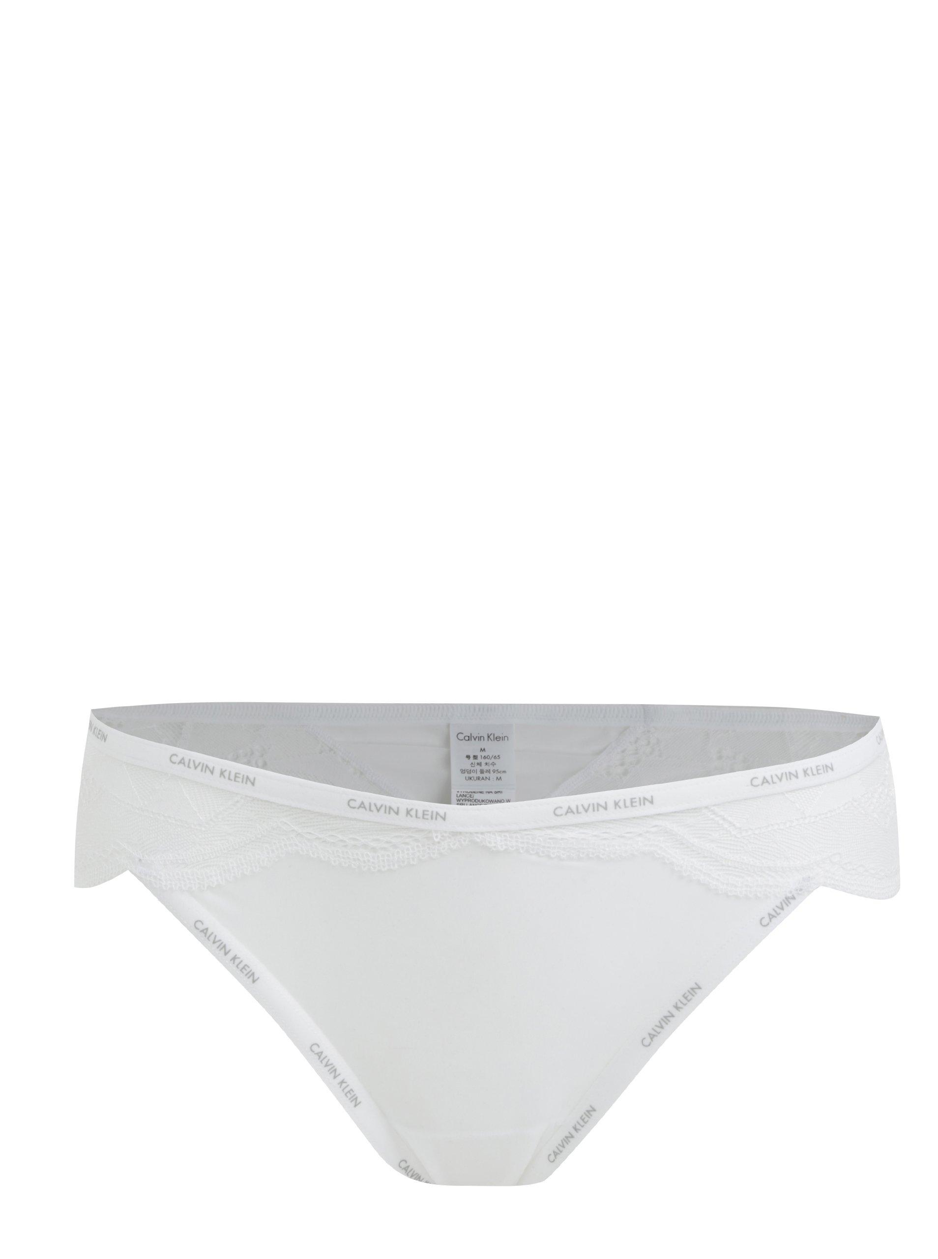 229457f001 Biele čipkované dámske nohavičky Calvin Klein Underwear
