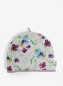 Bielo-fialová čiapka na kanvicu s kvetovaným motívom Cooksmart