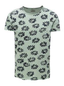 Svetlozelené kvetované tričko Dstrezzed