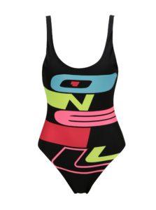 Čierne dámske plavky s výstrihom na chrbte O'Neill Issue