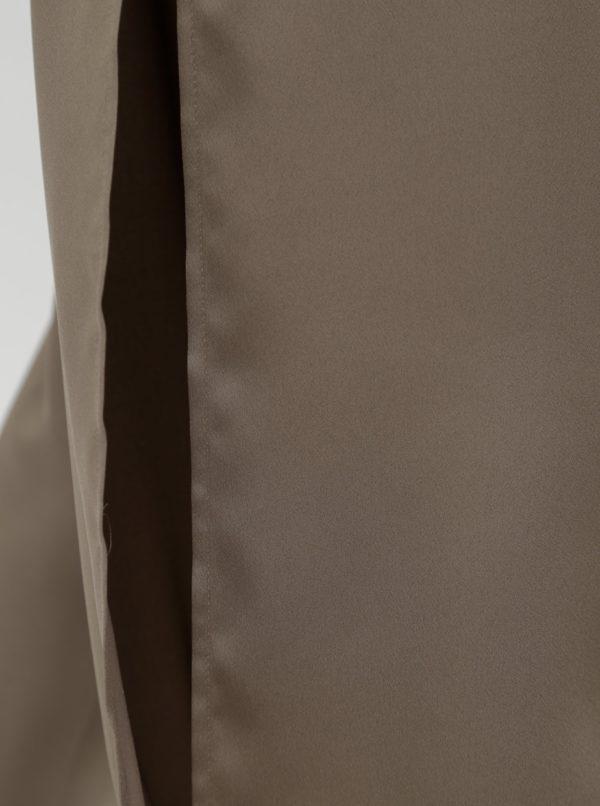 Béžové voľné nohavice s prestrihmi a vysokým pásom Alexandra Ghiorghie Omar