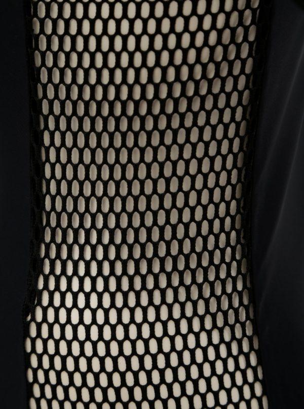 Čierne body s dlhým sieťovaným rukávom Alexandra Ghiorghie Different