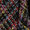 Čierne melírované sako volánovými chlopňami Ghiorghie Moren