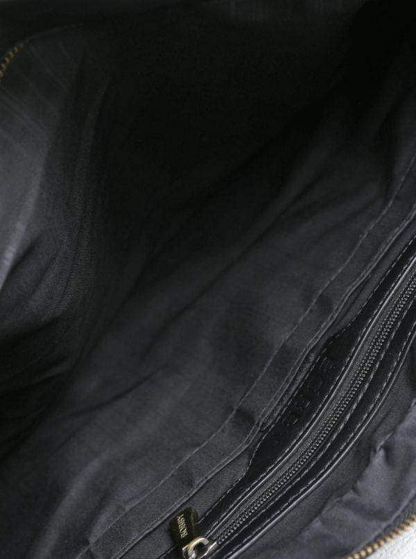 Čierna koženková cestovná taška Bobby Black