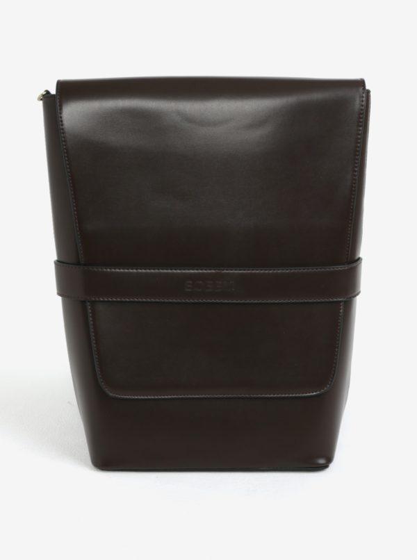 Hnedý koženkový batoh Bobby Black