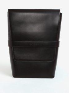 Tmavohnedý koženkový batoh Bobby Black