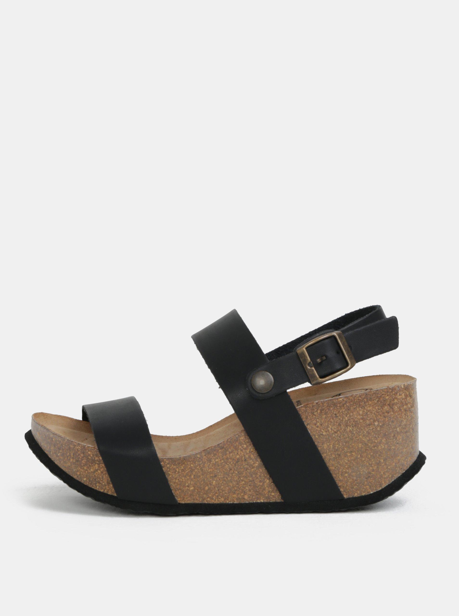 8dae07fec64c Čierne sandále na platforme OJJU
