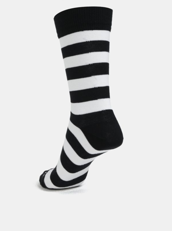 Biele vzorované unisex ponožky Fusakle Triangel