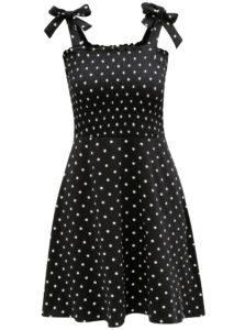Bielo-čierne bodkované šaty na ramienka Dorothy Perkins
