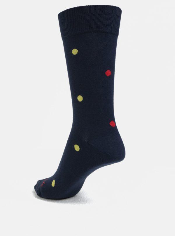 Tmavomodré unisex ponožky s motívom lienok Fusakle Lienka