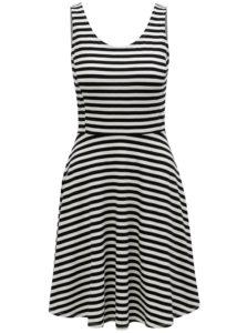 Čierno-biele pruhované šaty Dorothy Perkins