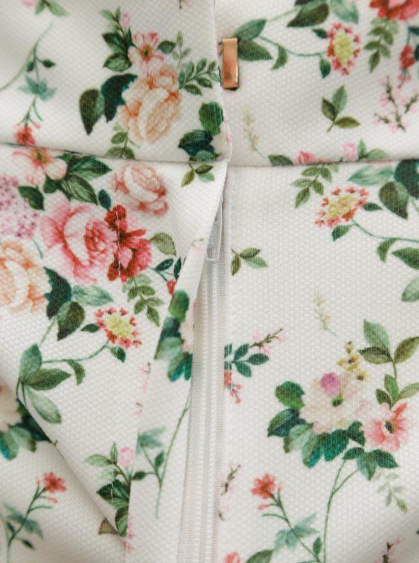 Biele kvetované kraťasy Dorothy Perkins