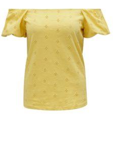 Žlté tričko s odhalenými ramenami Dorothy Perkins