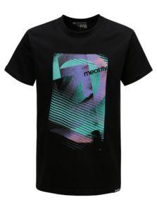 Čierne pánske tričko MEATFLY Domino