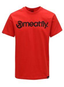 Červené pánske tričko MEATFLY Logo