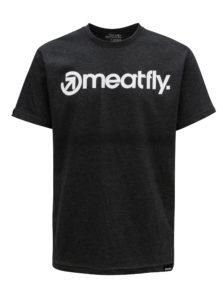 Tmavosivé pánske tričko MEATFLY Logo