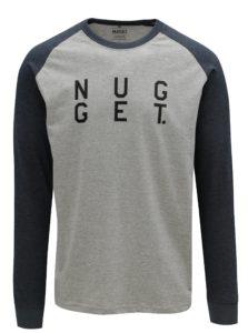 Modro-sivé pánske tričko s potlačou NUGGET Complex
