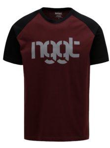 Čierno-vínové pánske tričko NUGGET Asset