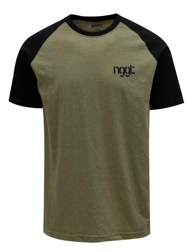Khaki pánske tričko NUGGET Asset