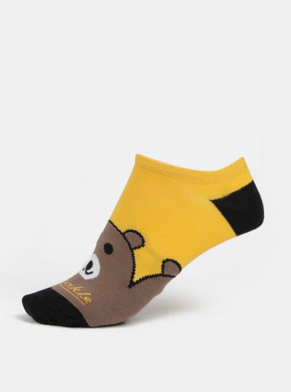 Hnedo-žlté unisex členkové ponožky Fusakle Maco