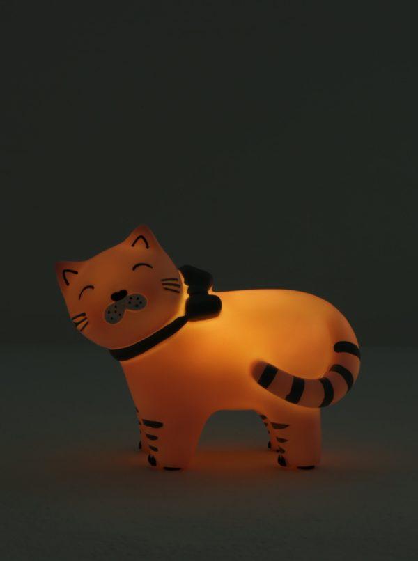 Ružová LED lampa v tvare mačky Disaster