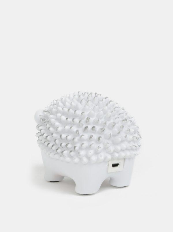 Biela LED lampa v tvare ježka Disaster