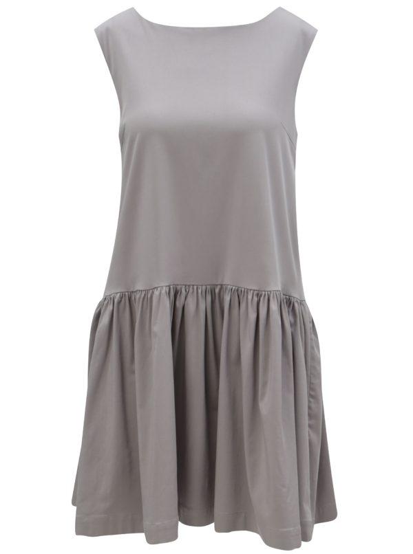 Sivé šaty bez rukávov From Kaya with Love Charlie