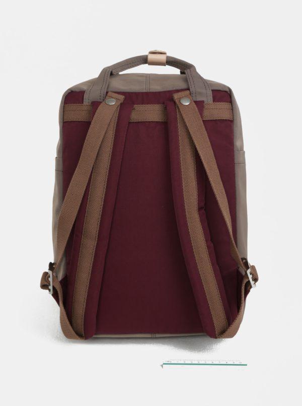 Vínovo-hnedý batoh Doughnut Macaroon