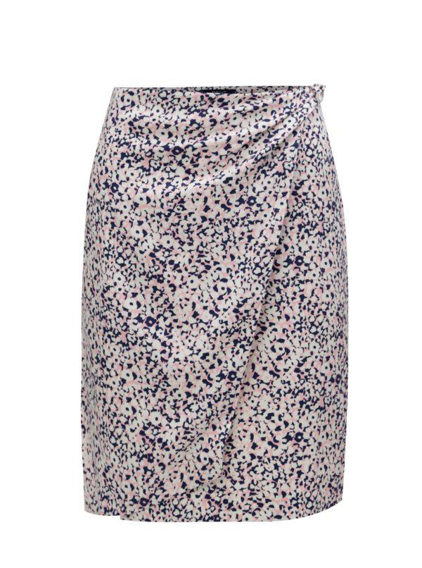 Ružovo-krémová vzorovaná zavinovacia sukňa GANT