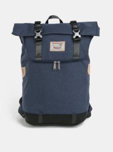 Tmavomodrý batoh s koženými detailmi Doughnut Christopher