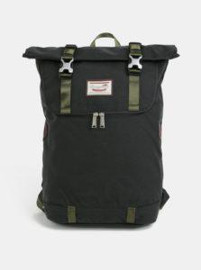 Tmavozelený batoh s koženými detailmi Doughnut Christopher