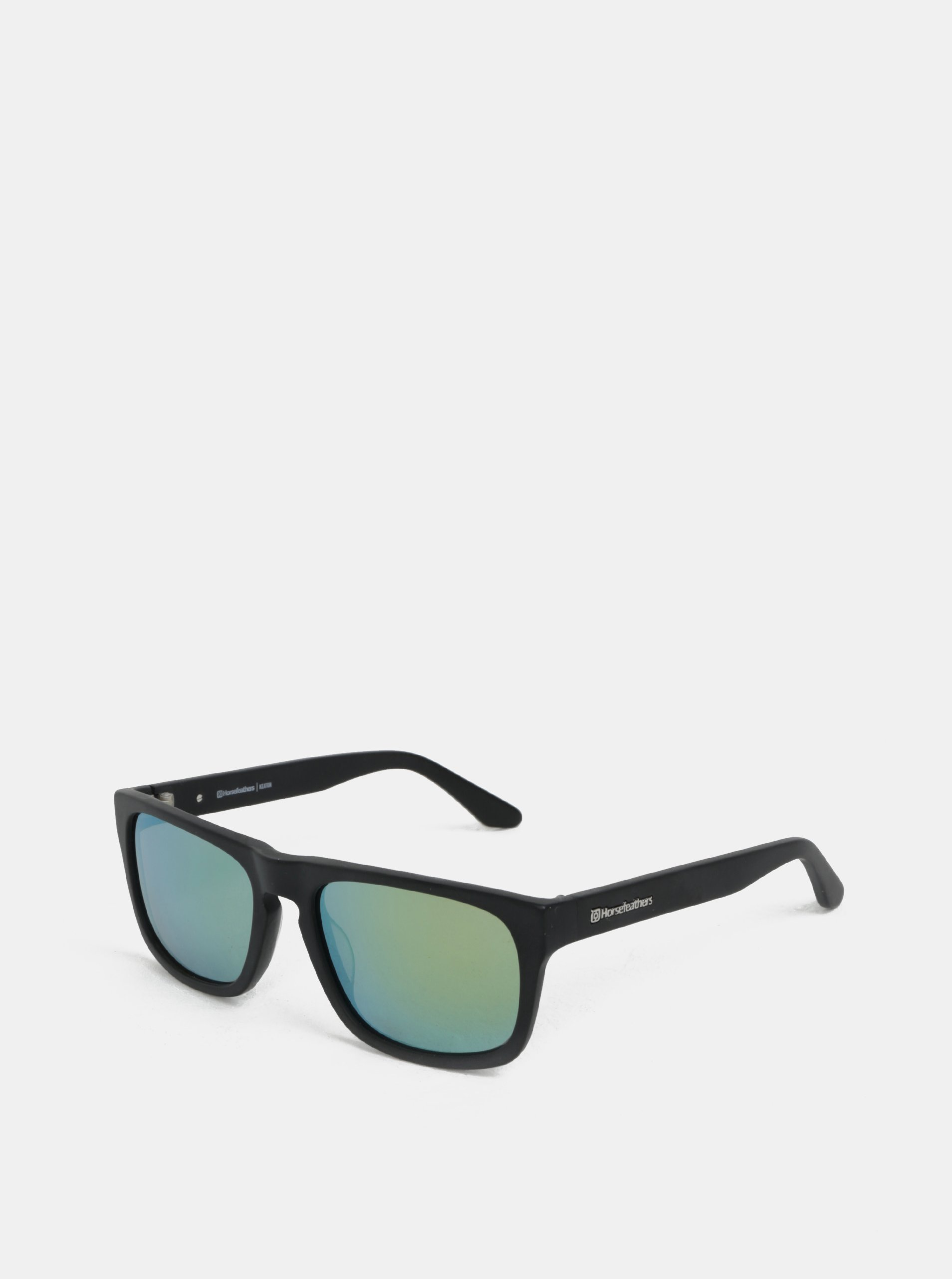 Zeleno-čierne pánske slnečné okuliare Horsefeathers Keaton  3fe201e3710
