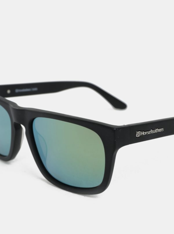 Zeleno-čierne pánske slnečné okuliare Horsefeathers Keaton