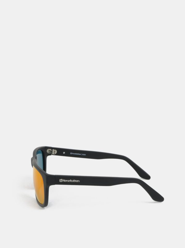 Červeno-čierne pánske slnečné okuliare Horsefeathers Keaton