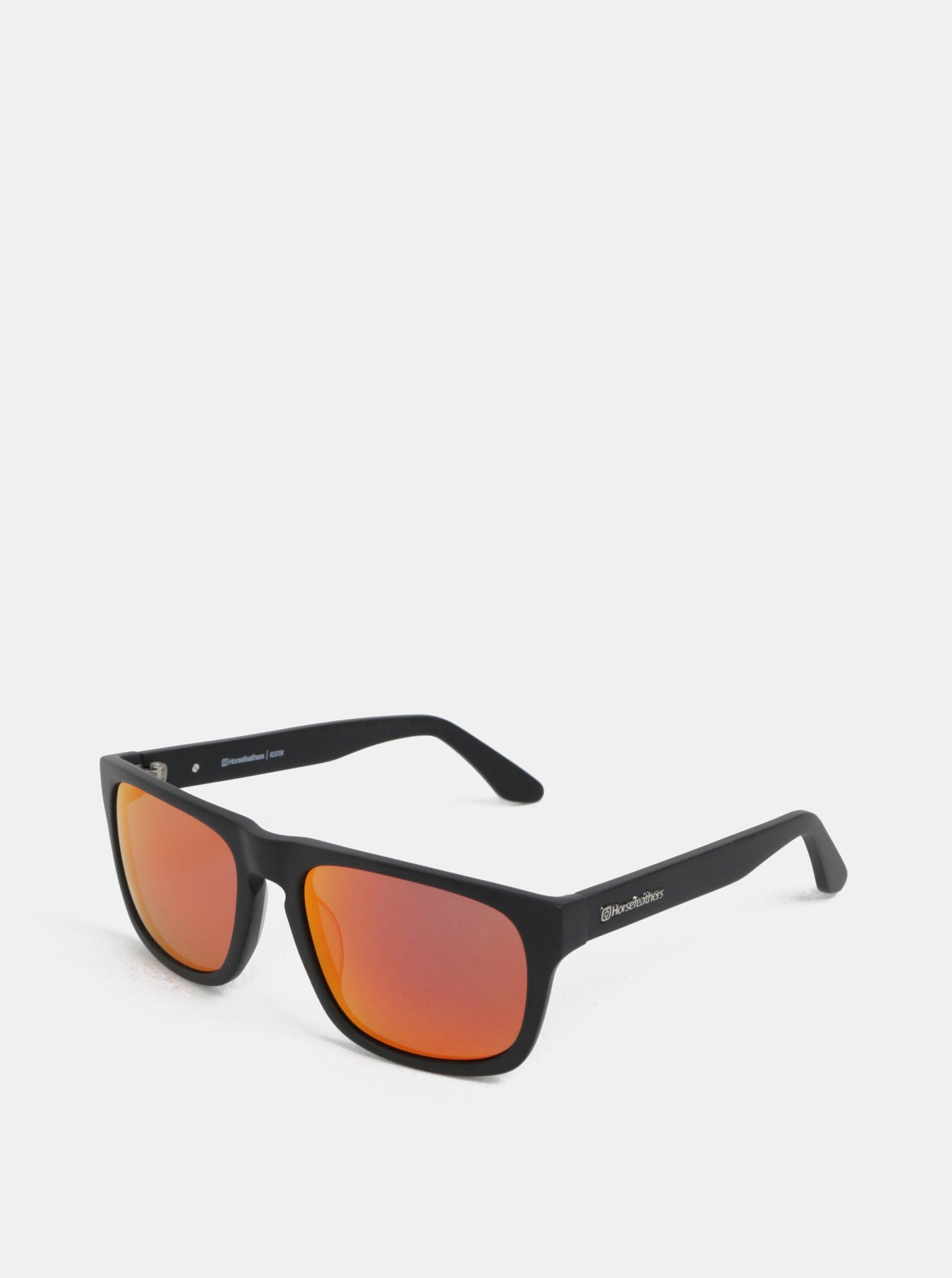 Červeno-čierne pánske slnečné okuliare Horsefeathers Keaton  605ed0552d1