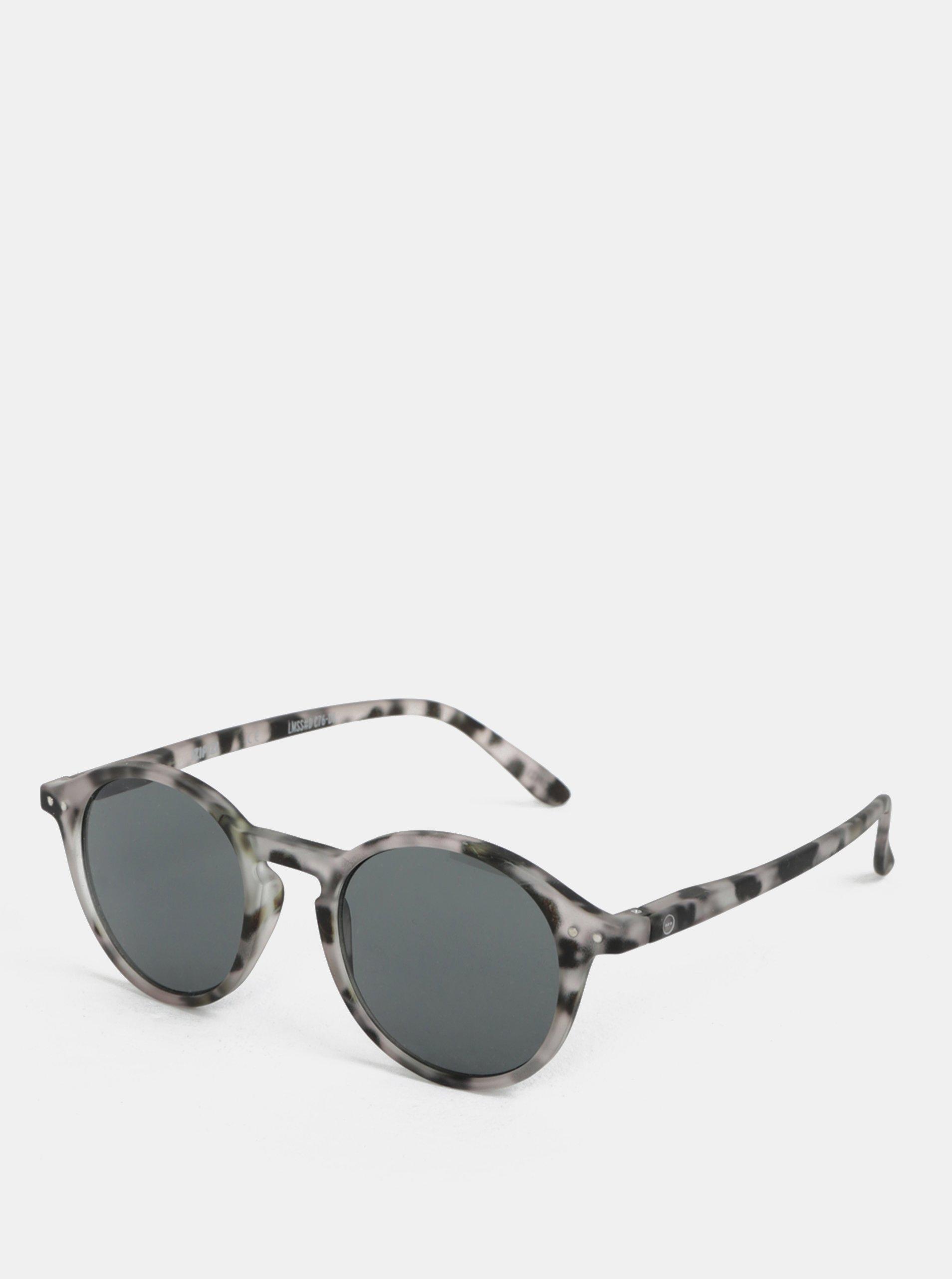 6ab1a4b2f Sivé vzorované unisex slnečné okuliare IZIPIZI #D | Moda.sk