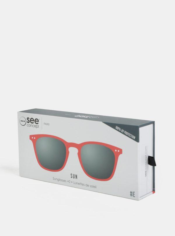Červené unisex slnečné okuliare IZIPIZI #E