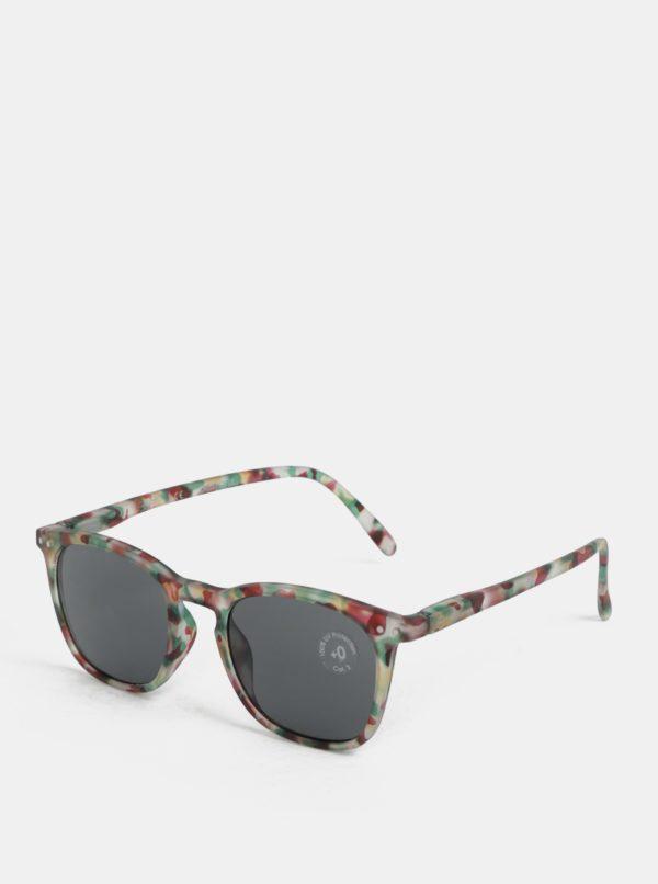 Zelené vzorované slnečné okuliare IZIPIZI #E