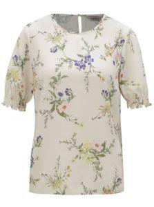 Krémová kvetovaná blúzka Dorothy Perkins Petite