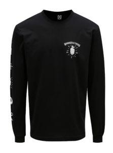 Čierne pánske tričko s dlhým rukávom Horsefeathers Hoppy