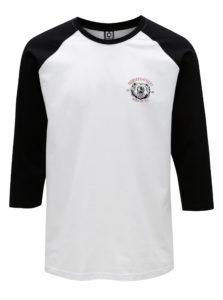 Čierno-biele pánske tričko s 3/4 rukávom Horsefeathers Bear