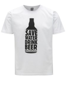 Biele pánske tričko s potlačou Horsefeathers Save