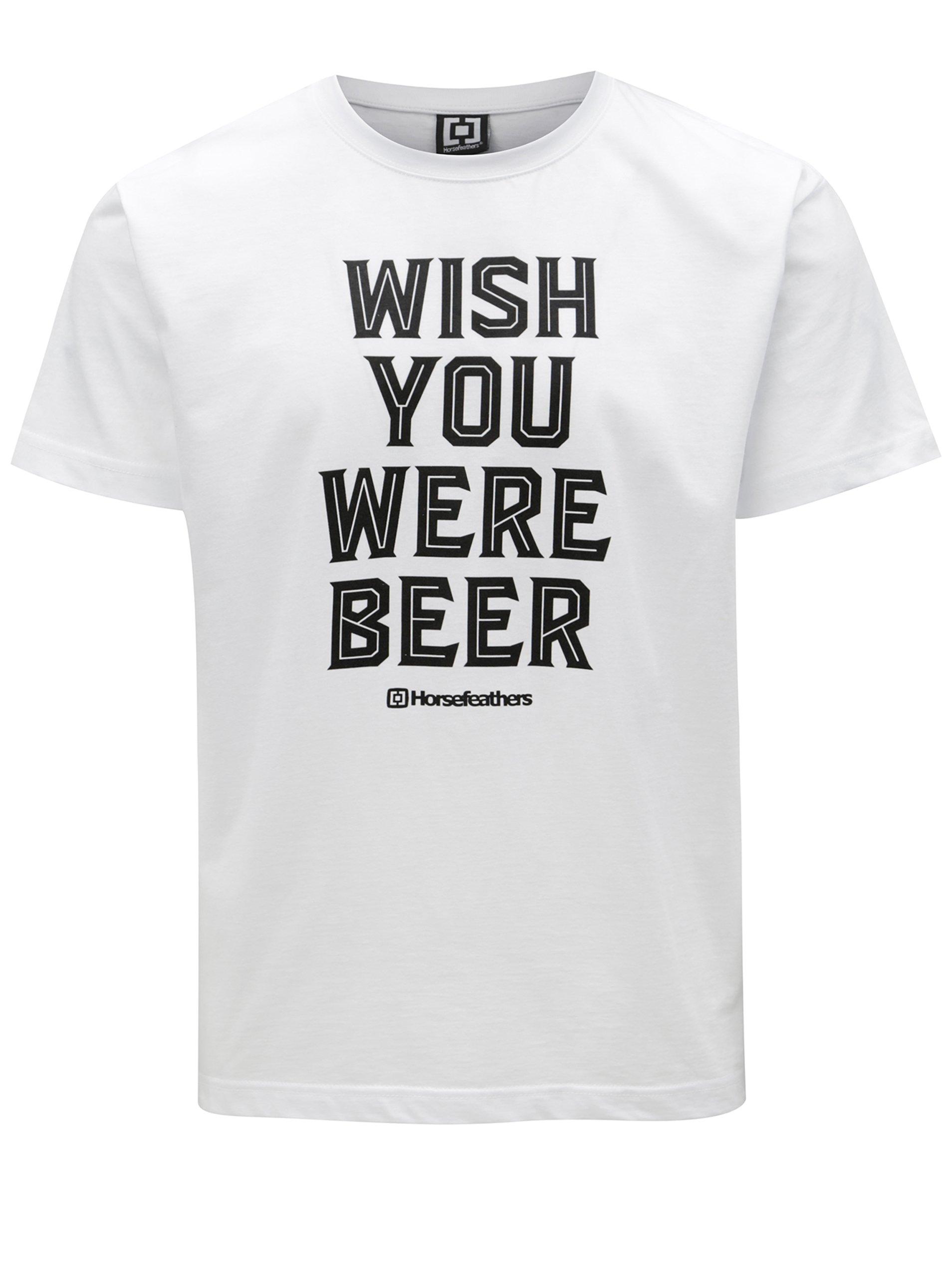 d633a9ec779d Biele pánske tričko s potlačou Horsefeathers Prayer