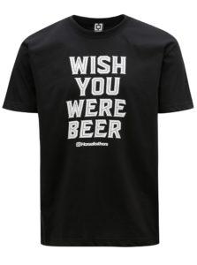 Čierne pánske tričko s potlačou Horsefeathers Prayer