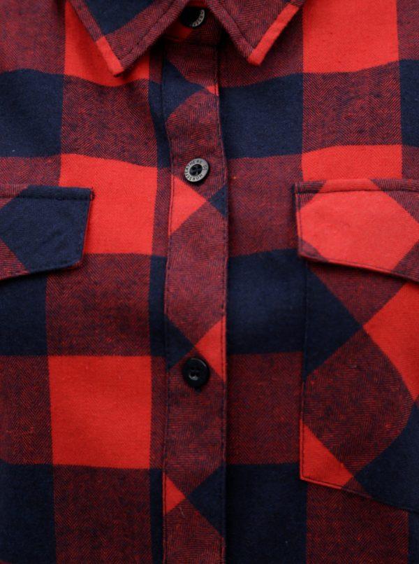 Červená dámska kockovaná košeľa Horsefeathers Maya